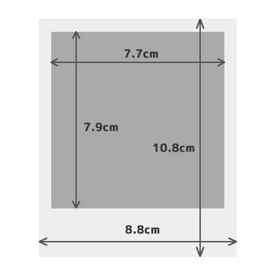Polaroid size